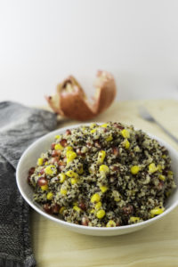 Refreshing quinoa salad, carbohydrates