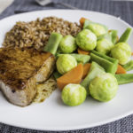 Tuna steak with vapoured vegetables