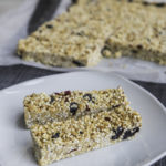 Delicious white chocolate muesli bars